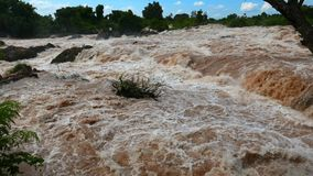 The Mekong falls at the end of the rainy season. stock footage