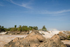 The Mekong falls royalty free stock images