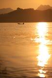 Mekong fishermen. Royalty Free Stock Photo