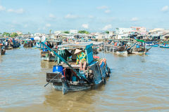 Mekong floating market Royalty Free Stock Photography