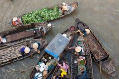 Mekong floating matket Stock Photos