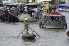 Mekong het drijven markt Stock Afbeeldingen