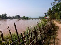Mekong Island, Don Det. The Si Phan Don (4,000 Islands) is a riverine archipelago located in the Mekong River in southern Laos (Champasak Province). Si Phan Don stock photo