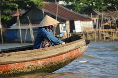 Mekong Paddle Royalty Free Stock Images