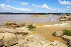 Mekong Rive en getijden stock foto's