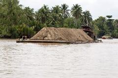 Mekong River Barge Royalty Free Stock Photos