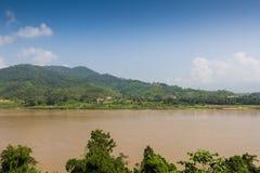 Mekong River border between thailand and laos Stock Photo