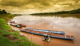 Mekong river Chai Buri Laos. Landscape of Mekong river at Paklai Laos Stock Photography