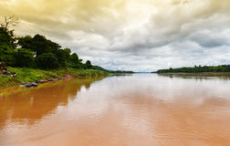 Mekong river Chai Buri Laos Stock Photo