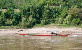 Mekong River Cruise in Laos. Royalty Free Stock Images