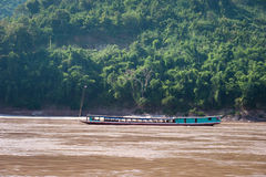 Mekong River Cruise in Laos Royalty Free Stock Photography