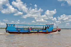 Mekong river cruise Royalty Free Stock Images