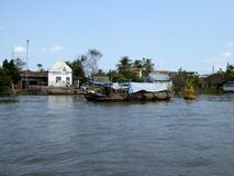 Mekong river delta in cai be Vietnam Royalty Free Stock Photography
