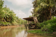 Mekong river delta on the South of Vietnam Stock Image