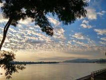 Mekong River em ChiangSan Chaing Rai Tailândia Fotos de Stock Royalty Free