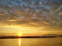 Mekong River em ChiangSan Chaing Rai Tailândia Foto de Stock Royalty Free