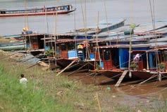 Mekong River em Luang Prabang Laos Imagem de Stock Royalty Free
