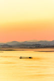 Mekong river in the evening Stock Images