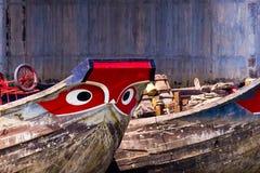 Mekong River fartyg Fotografering för Bildbyråer
