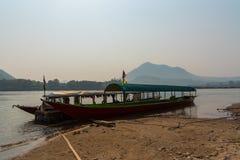 Mekong River fartyg Royaltyfri Foto