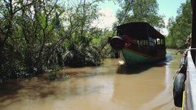Mekong River i Vietnam, South East Asia lager videofilmer