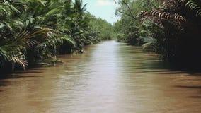 Mekong River i Vietnam, South East Asia arkivfilmer