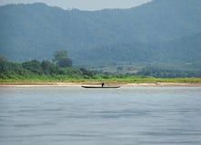 Mekong River kryssning i Laos Arkivbild