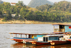 Mekong river, laos ,Luang Prabang. Stock Photo