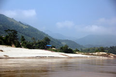 Mekong river, Laos Royalty Free Stock Images