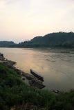 Mekong River - Laung Prabang Laos Arkivfoto