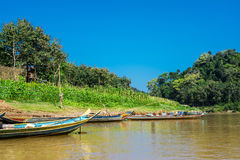 On the Mekong river luang Prabang, Laos Royalty Free Stock Image