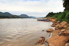 Mekong River in Luang Prabang (Laos) Royalty Free Stock Images