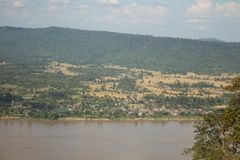 Lanscape of The the Mekong River,Nong Khai,Thailand Royalty Free Stock Photos