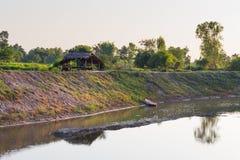 Mekong River på den Katong templet, Nong Khai, den Thailand semestern och långa ferier Arkivfoto