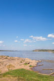 Mekong River på den Keang kaen Bao, Mukdahan, Thailand arkivbilder