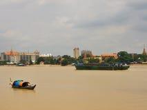 Mekong river in Phnom Pehn Stock Photos