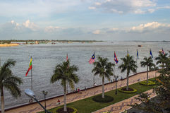 Mekong river in Phnom Penh Stock Photography