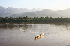 Mekong river,port, Luang Prabang, laos Stock Photography
