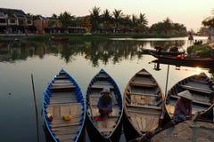 Mekong River Sunset Stock Photo