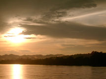 Mekong river. At sunset Loei Province Thailand Stock Photo
