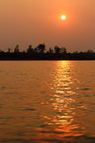 Mekong River Sunset Royalty Free Stock Images