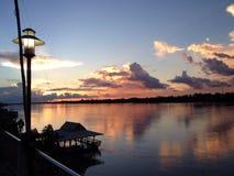 Mekong river and sunshine Royalty Free Stock Photos