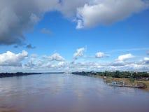 Mekong river and sunshine Stock Photos