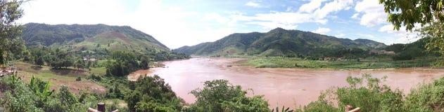 Mekong River synvinkel, Wiang Kean District, Chiang Rai, Thailand Royaltyfri Foto