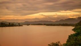Mekong river and Thai-Laos border at Chiang Saen district , Thailand