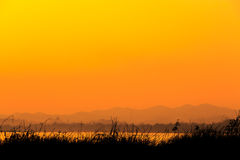 Mekong river in twilight time Royalty Free Stock Photography