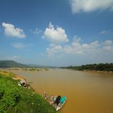 Mekong River Ubon Ratchathani Royaltyfri Fotografi