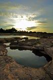 Mekong River Ubon Ratchathani Royaltyfria Foton