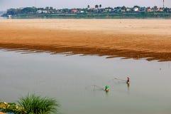 Mekong River Vientiane, Laos Arkivfoto