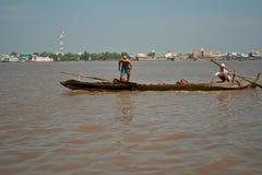 Mekong River Vietnam Royaltyfria Bilder